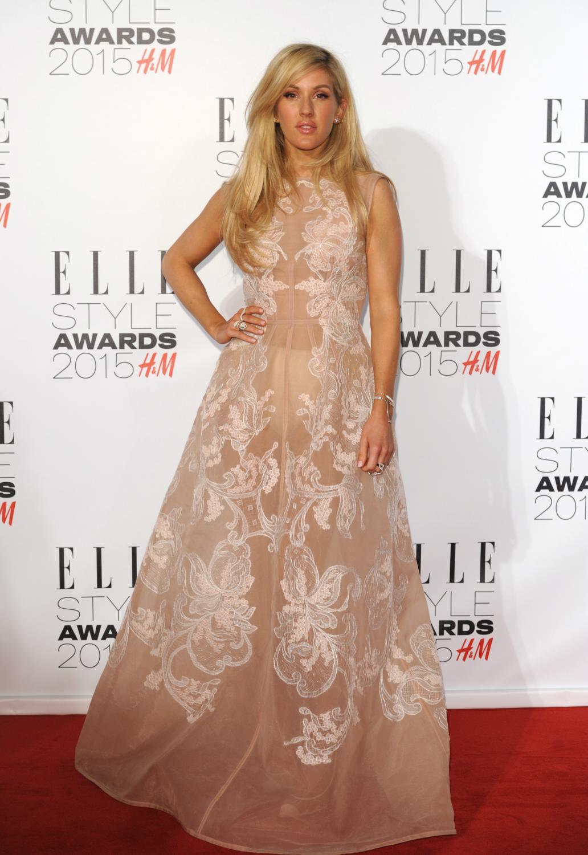 Luke Evans and Ellie Goulding pose together for ELLE Style Awards -3