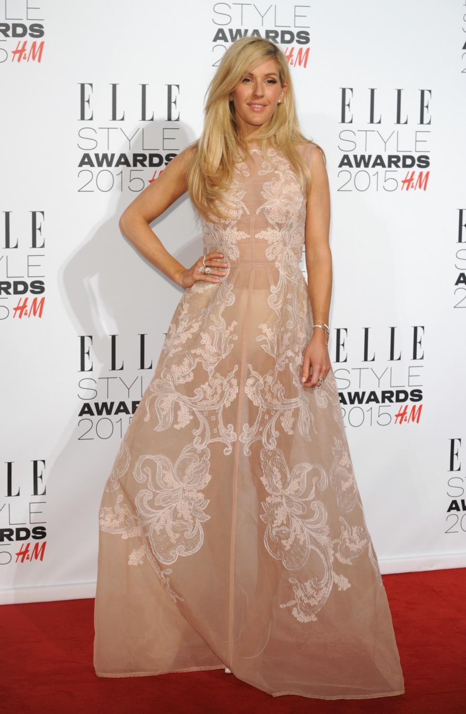 Luke Evans and Ellie Goulding pose together for ELLE Style Awards -4
