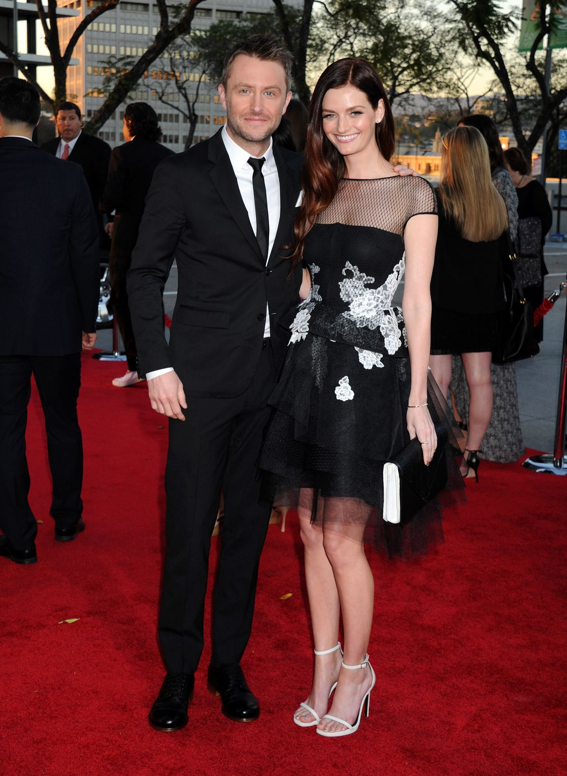 Lydia Hearst At AMC celebration ofe final episodes of Mad Men withe Black and Red Ball-1