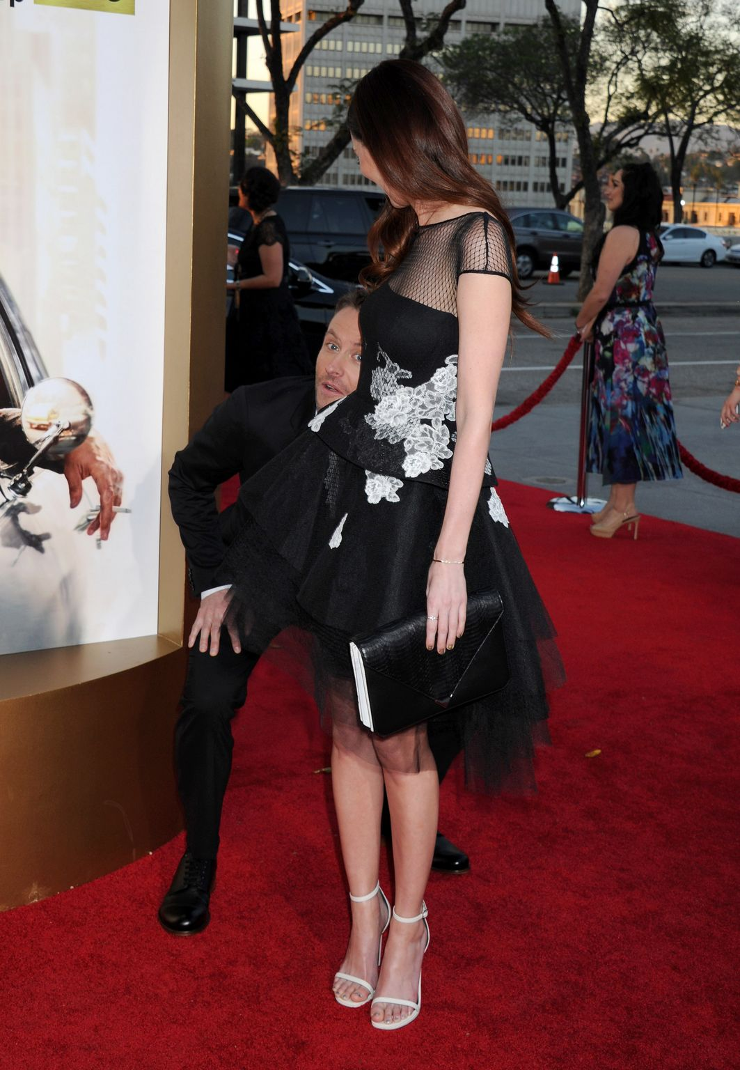 Lydia Hearst At AMC celebration ofe final episodes of Mad Men withe Black and Red Ball-4
