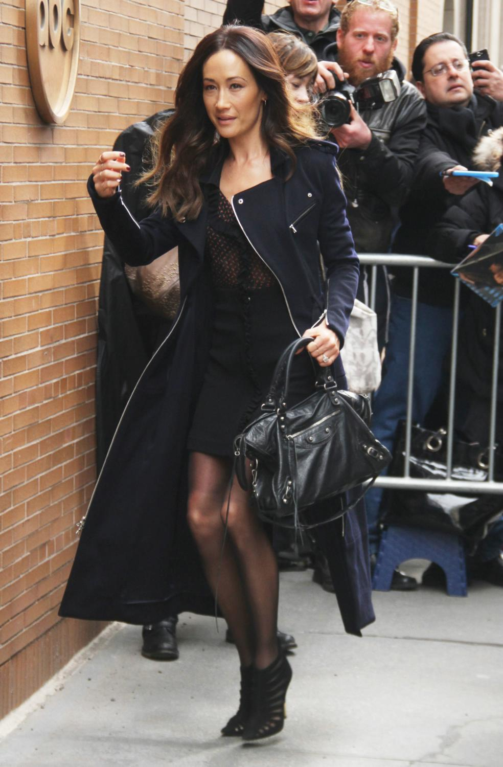 Maggie Q Arrives at The View in NYC-1