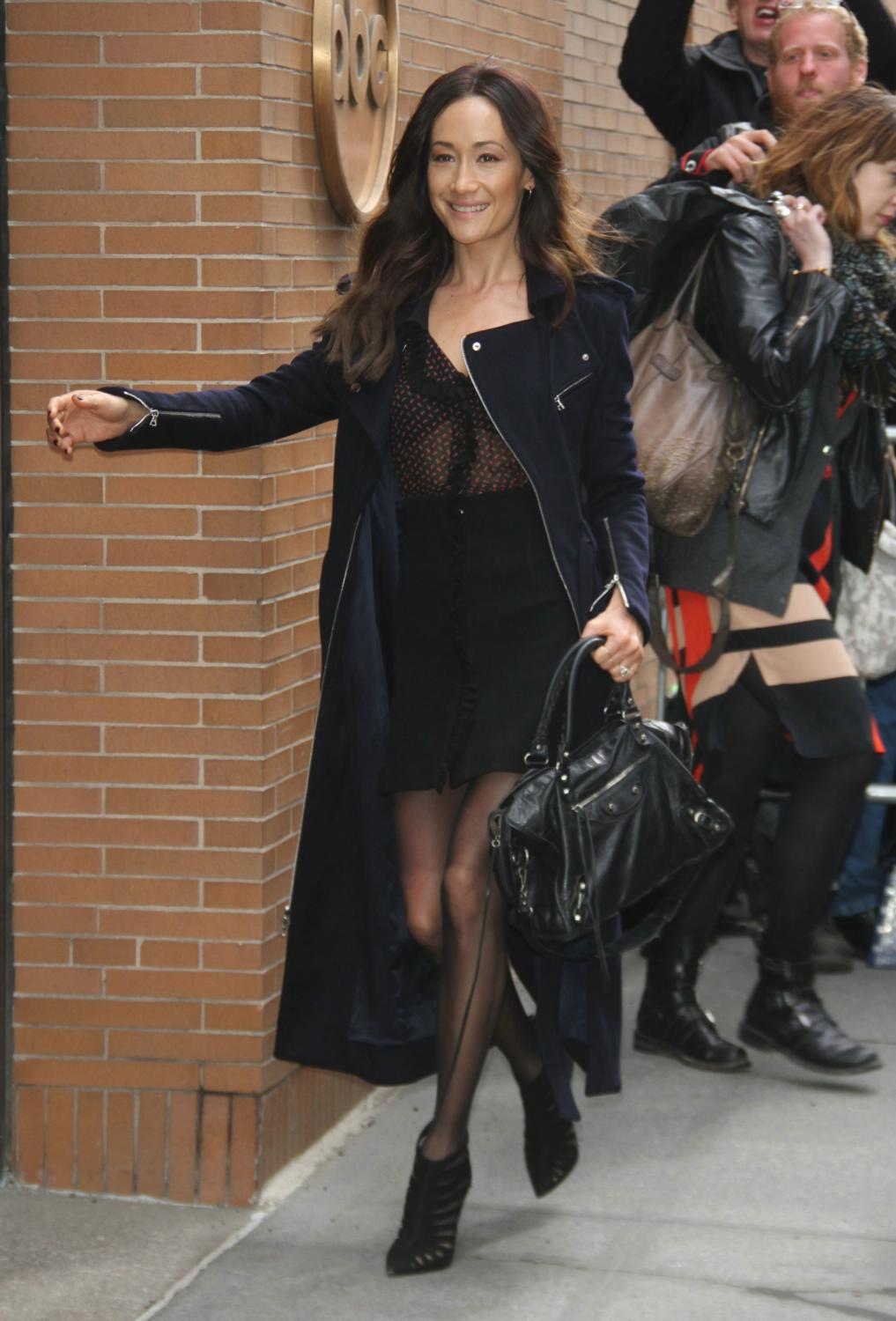Maggie Q Arrives at The View in NYC-2