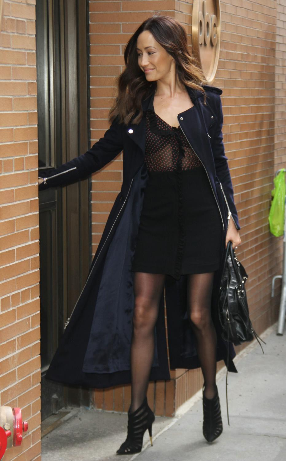 Maggie Q Arrives at The View in NYC-3