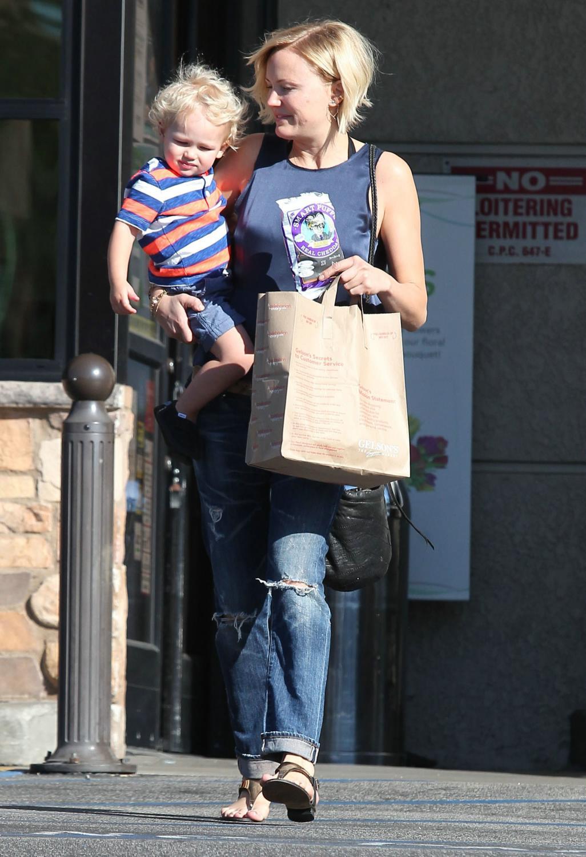 Malin Akerman and Her Son Sebastian Grocery Shopping Date-1