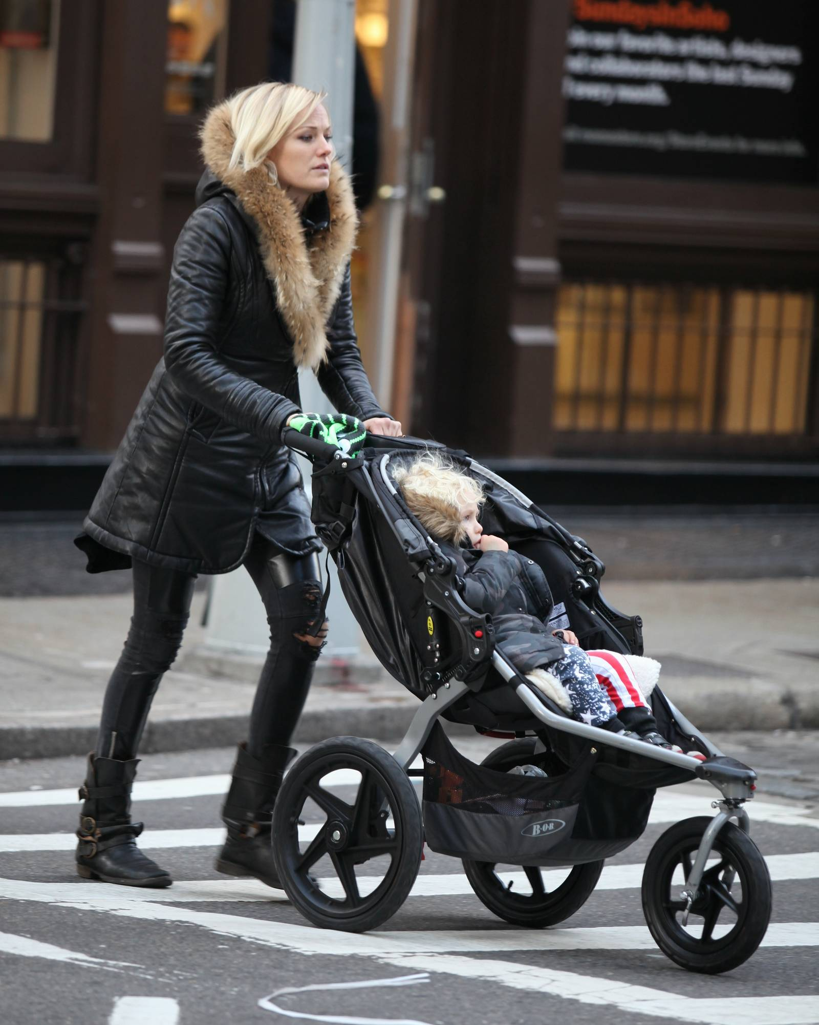 Malin Akerman and Son in SoHo-1