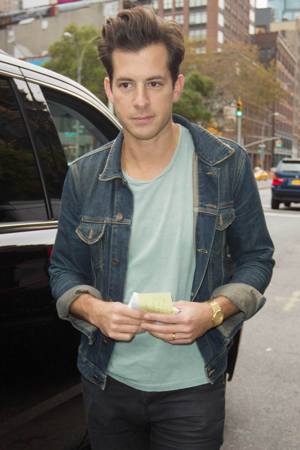 Mark Ronson Spotted in...
