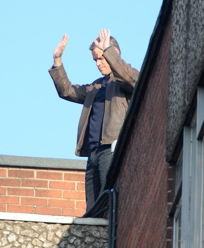 Matt Damon Films Bourne in Paddington-1