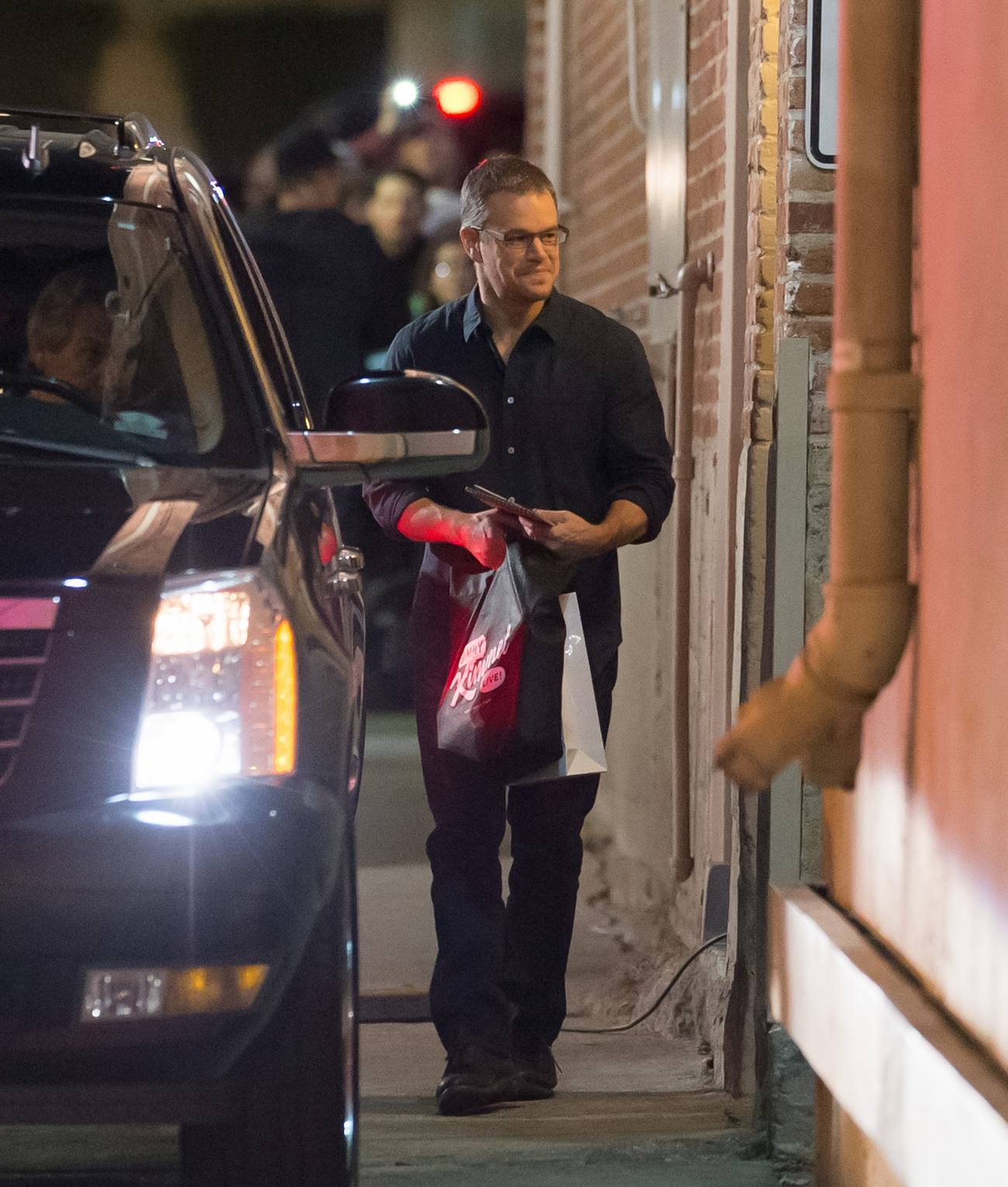 Matt Damon is seen at Jimmy Kimmel Live-1