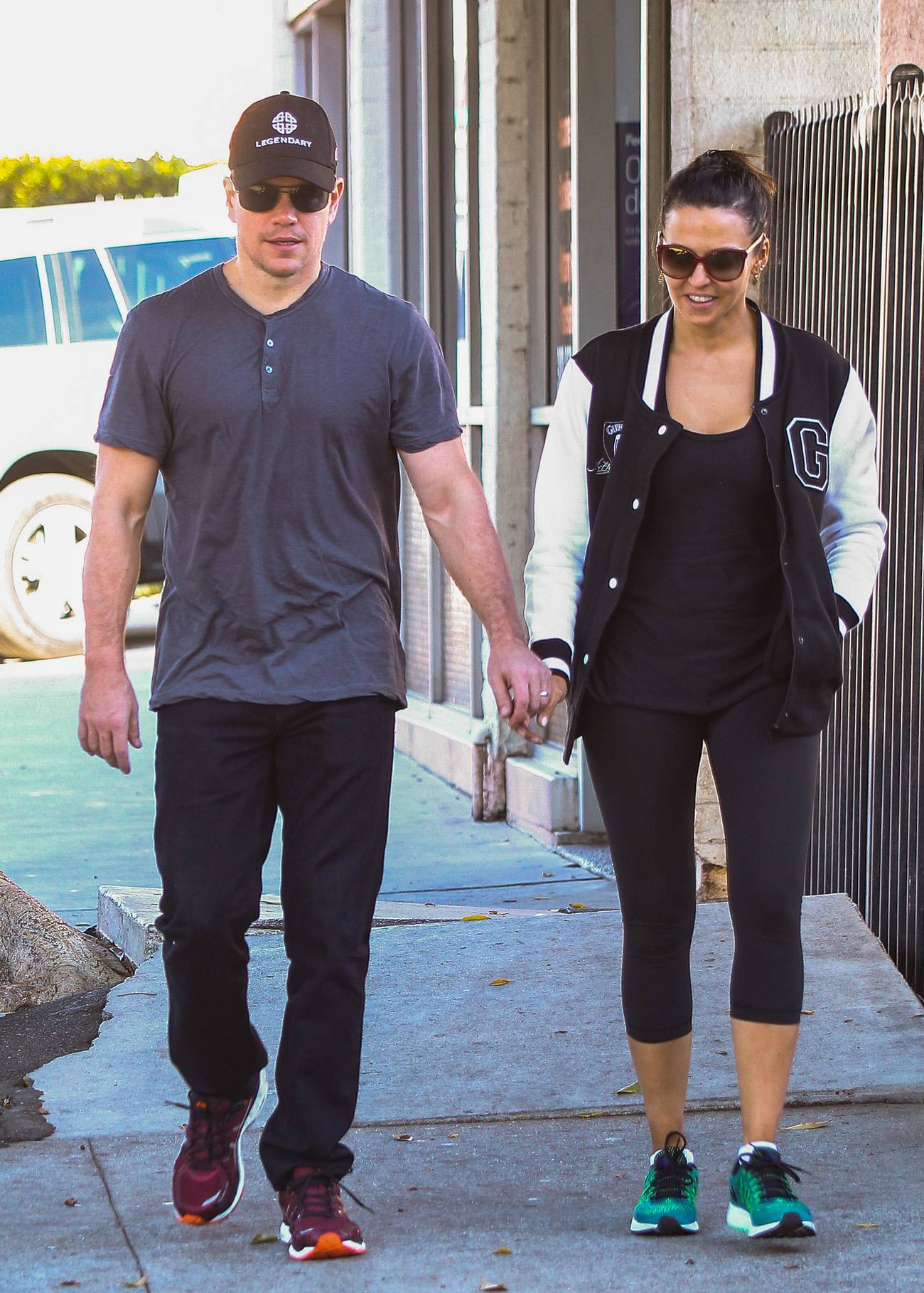 Matt Damon Out With His Wife Luciana Barroso