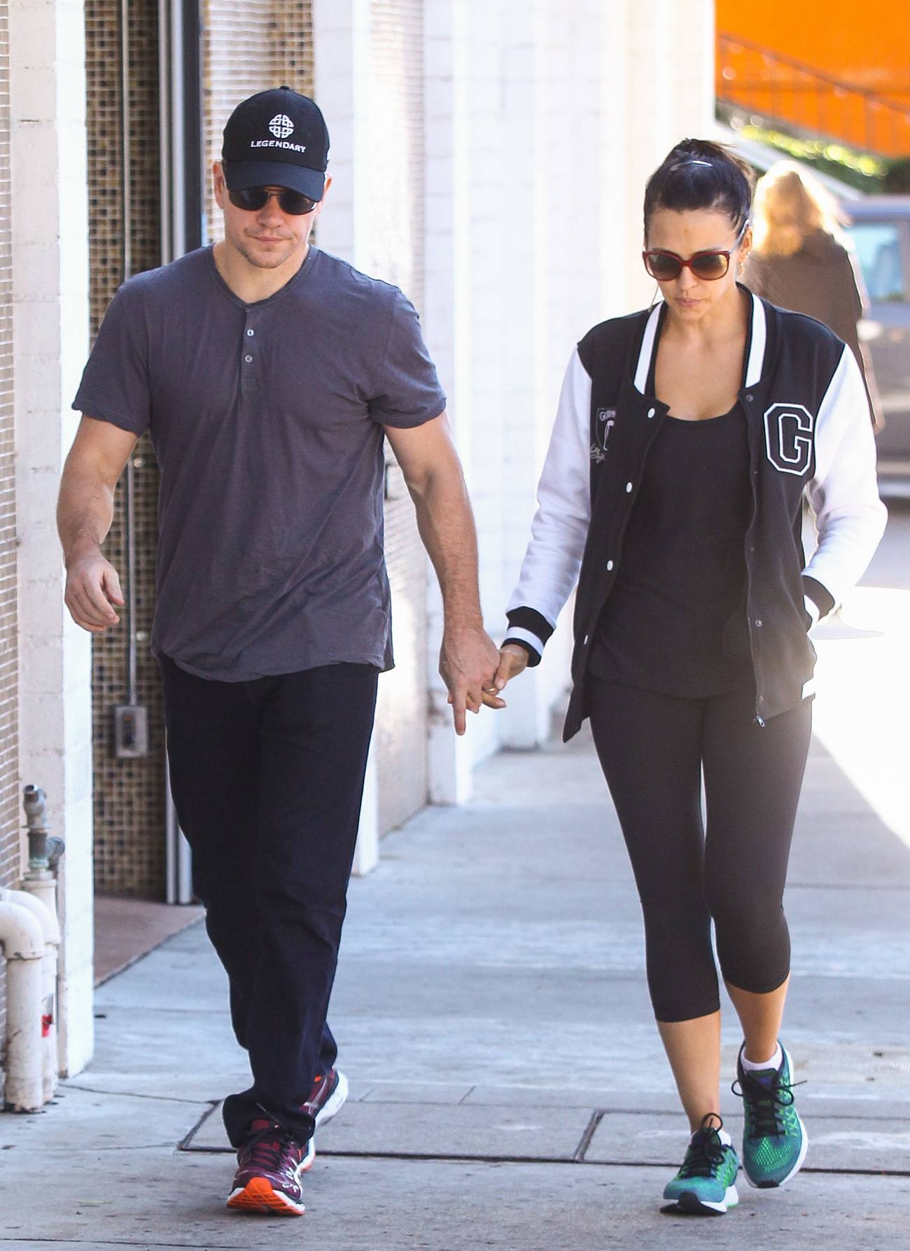 Matt Damon Out With His Wife Luciana Barroso-3