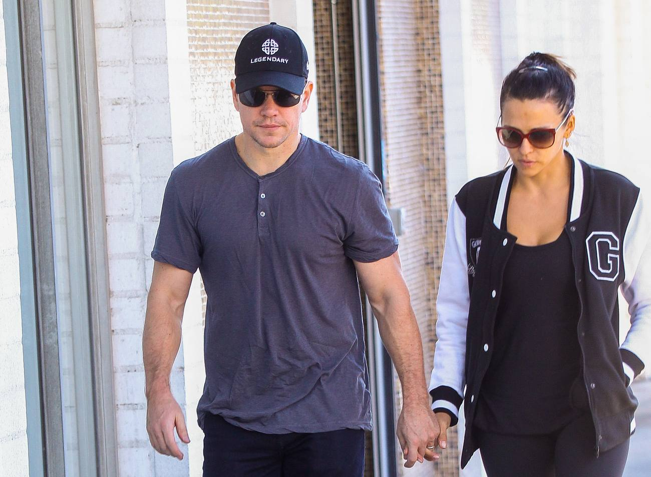 Matt Damon Out With His Wife Luciana Barroso-4