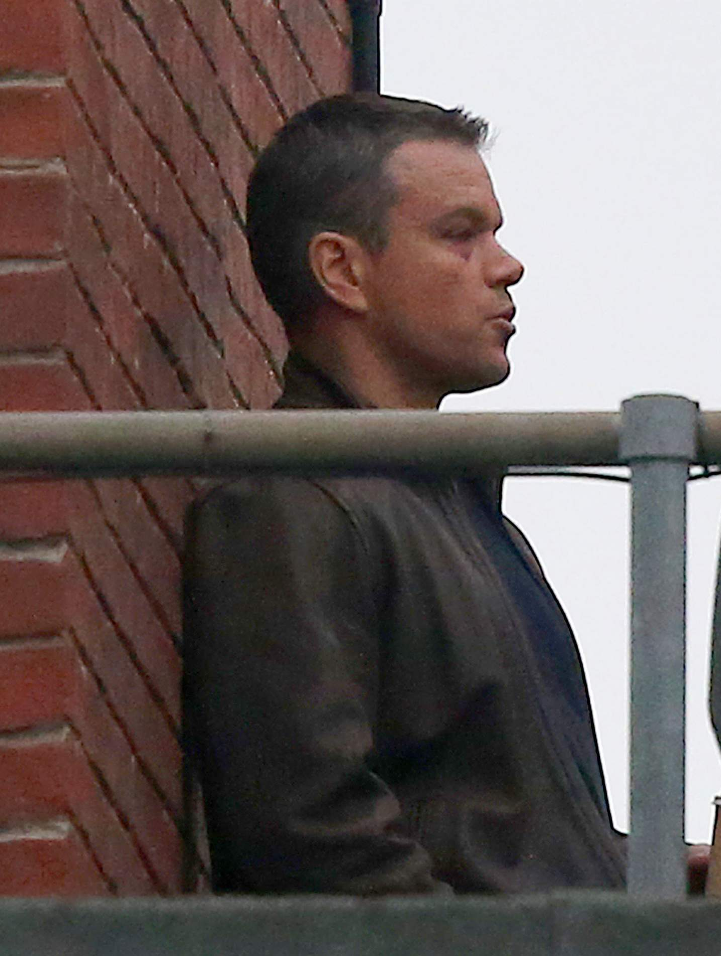 Matt Damon Shoots Interrogation Scenes for Bourne-1