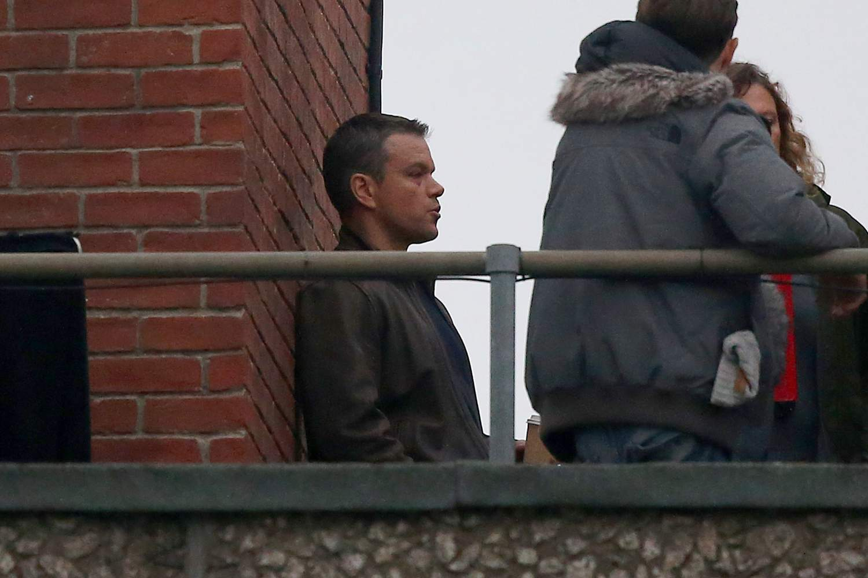 Matt Damon Shoots Interrogation Scenes for Bourne-2