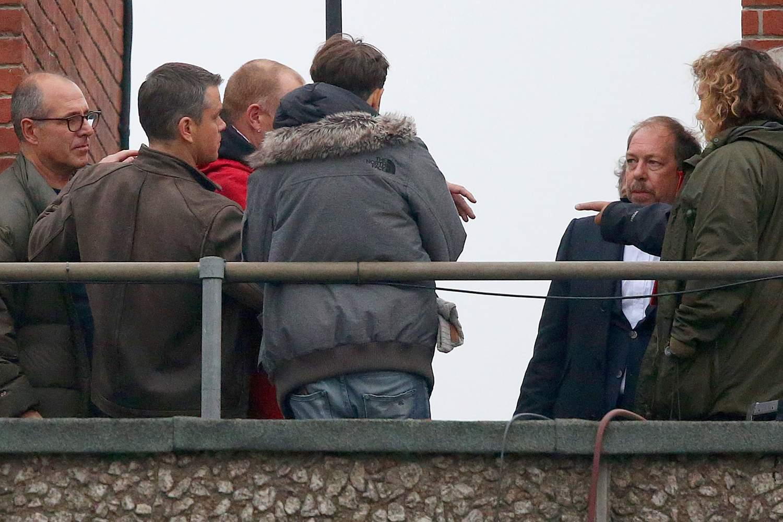 Matt Damon Shoots Interrogation Scenes for Bourne-3