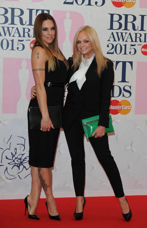 Mel C and Emma Bunton at The BRIT Awards -1