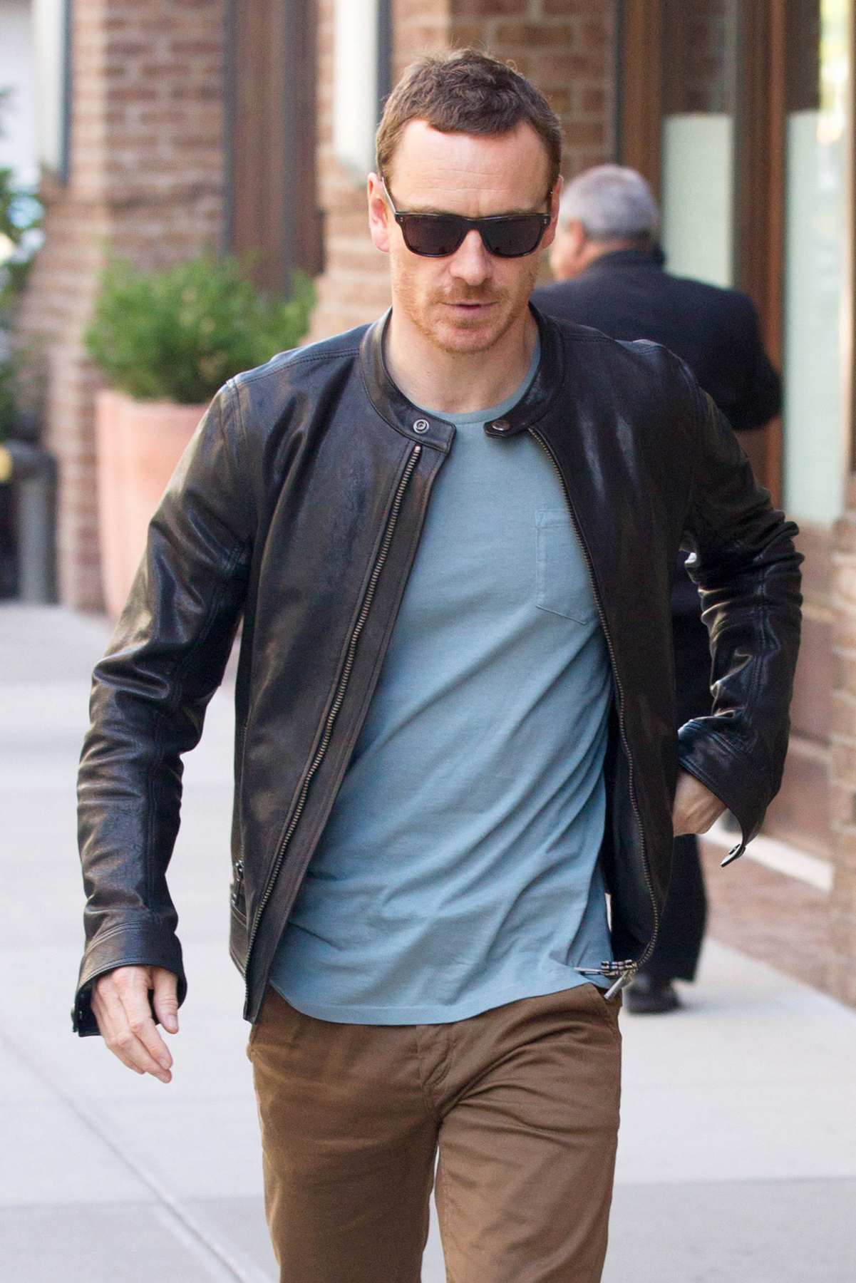Michael Fassbender and Alicia Vikander Leave Hotel in NYC-2