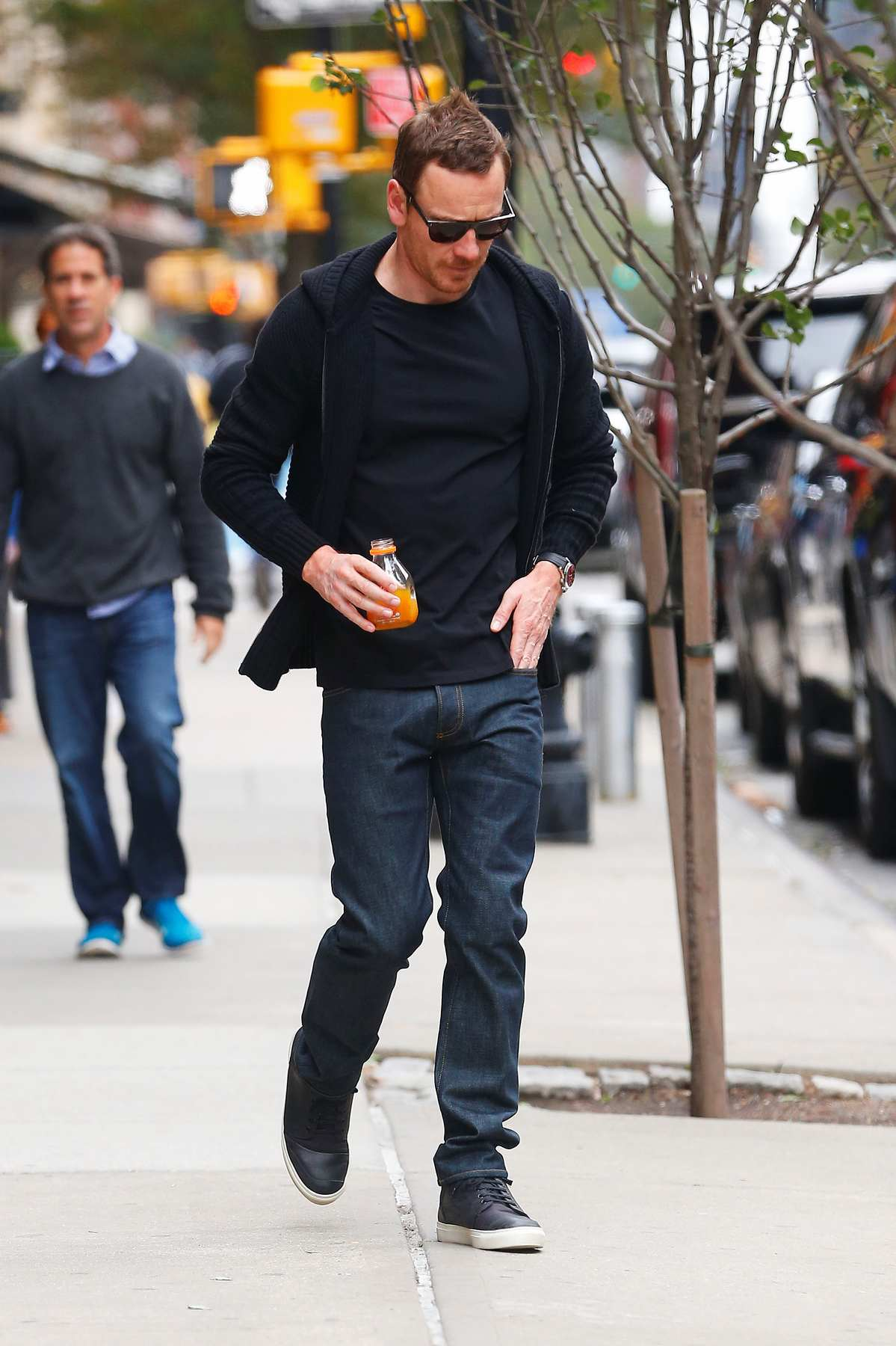 Michael Fassbender and Alicia Vikander Leave Hotel in NYC-3