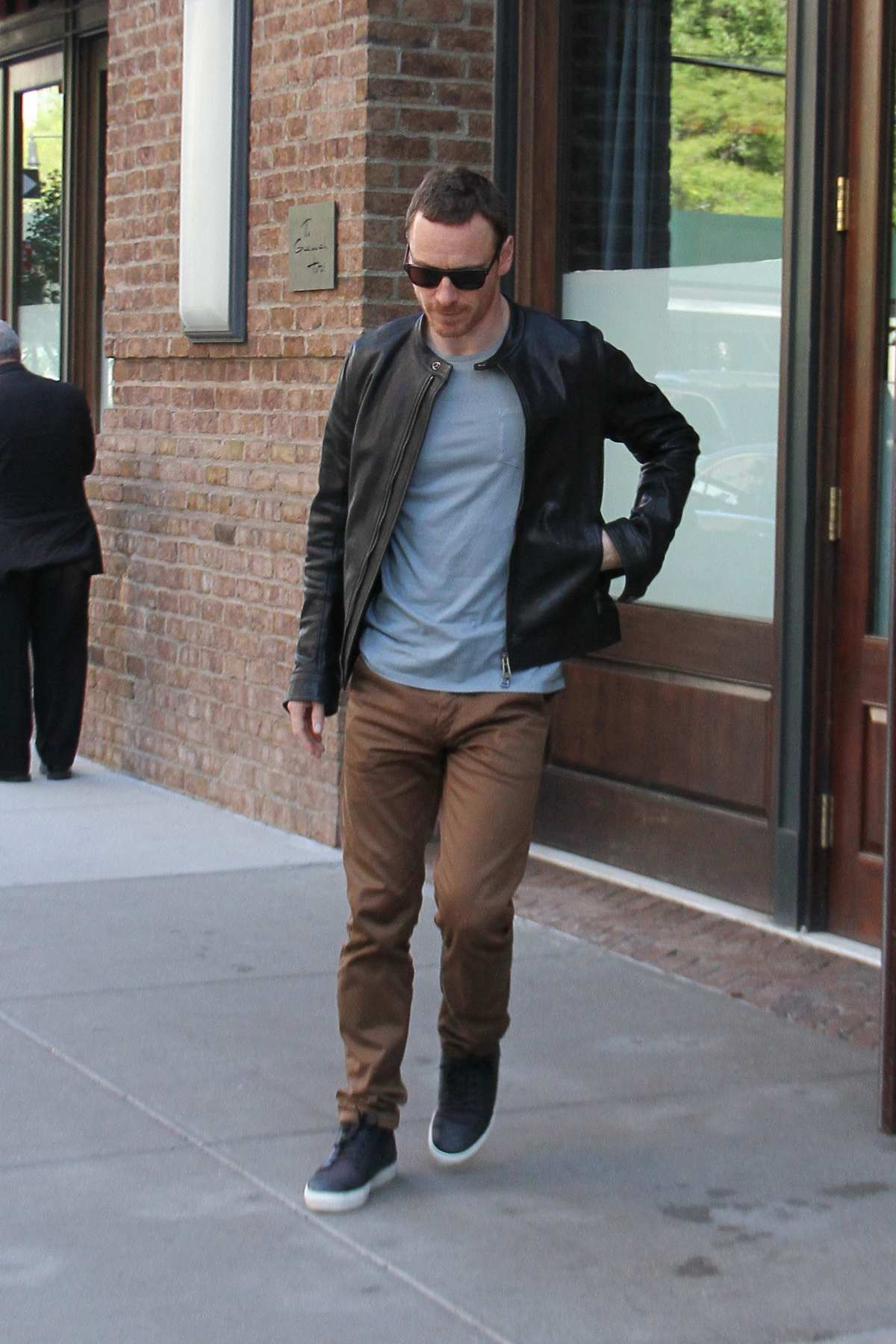 Michael Fassbender and Alicia Vikander Leave Hotel in NYC-4
