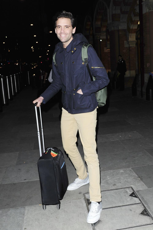 Mika Arrives at Kings Cross Pancras-4