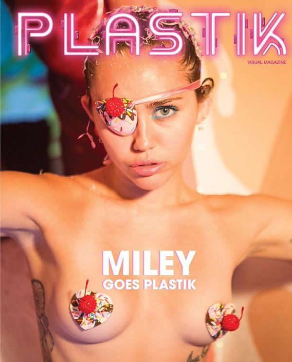 Miley Cyrus poses Topless for Plastik Magazine-1
