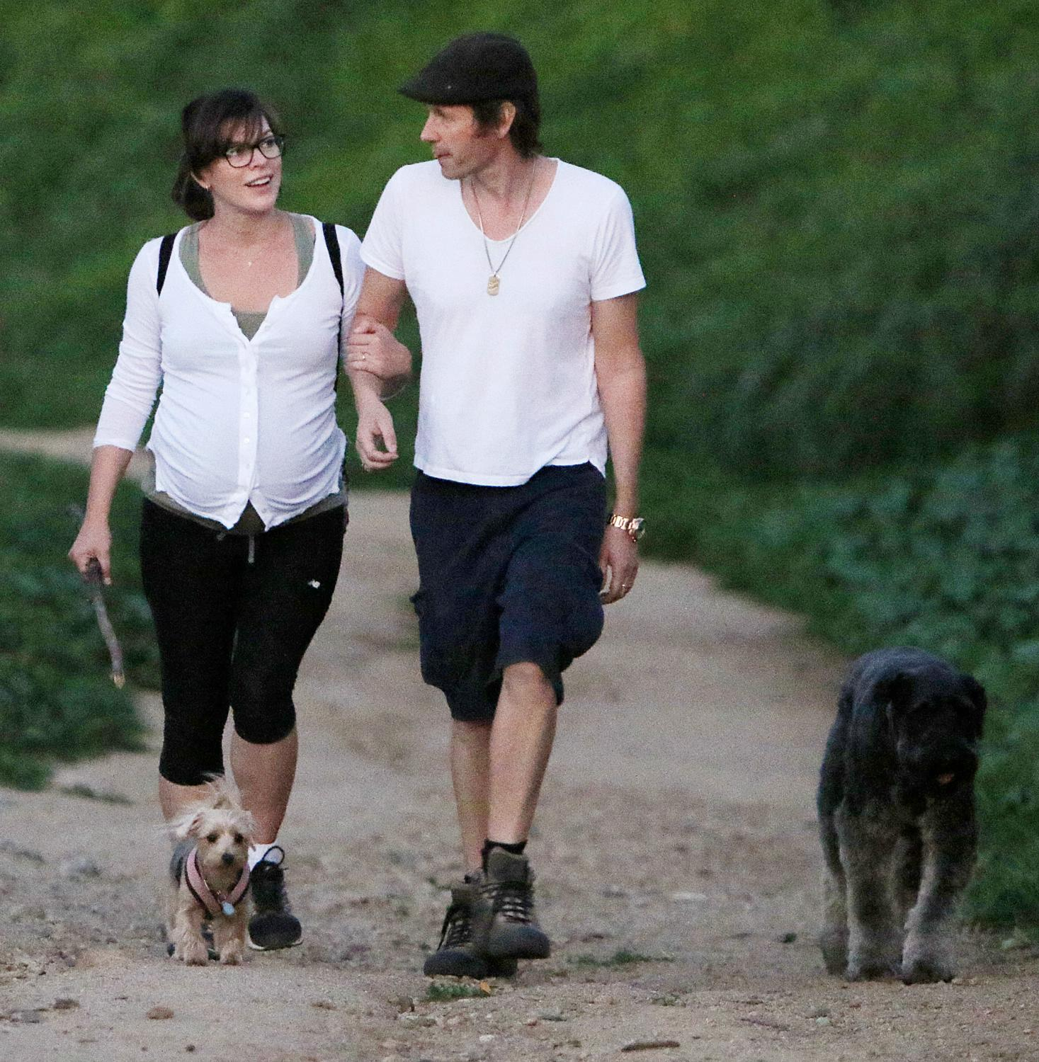Milla Jovovich Looks Heavily Pregnant As She Goes Hiking with Husband-1