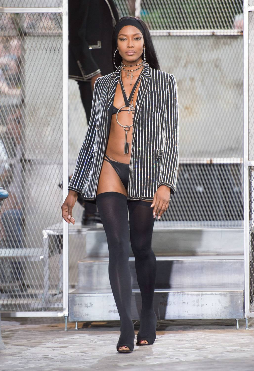 Naomi Campbell attendse Givenchy Menswear Spring/Summer Show-1