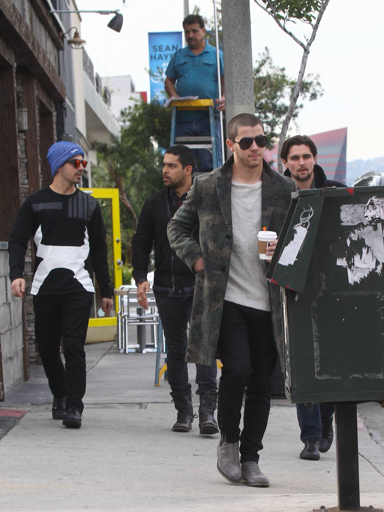 Nick Jonas and Joe Jonas Out in LA-4