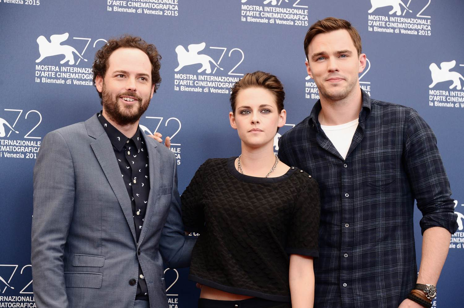Nicolas Hoult and Kristen Stewart Arrive at Equals Venices Photocall-4