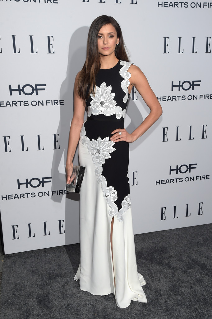 Nina Dobrev arrives at ELLEs Annual Women in Television Dinner-1