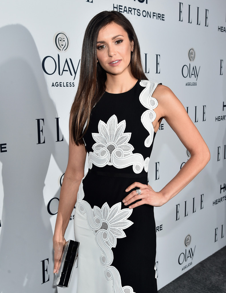 Nina Dobrev arrives at ELLEs Annual Women in Television Dinner-3