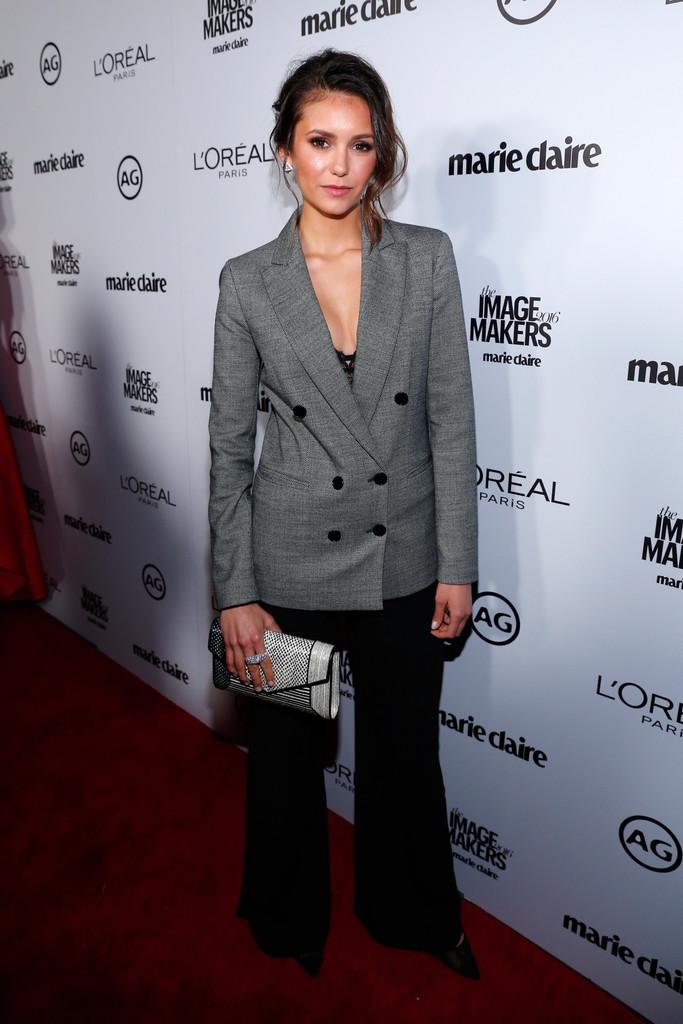 Nina Dobrev at Marie Claires Image Maker Awards on-1