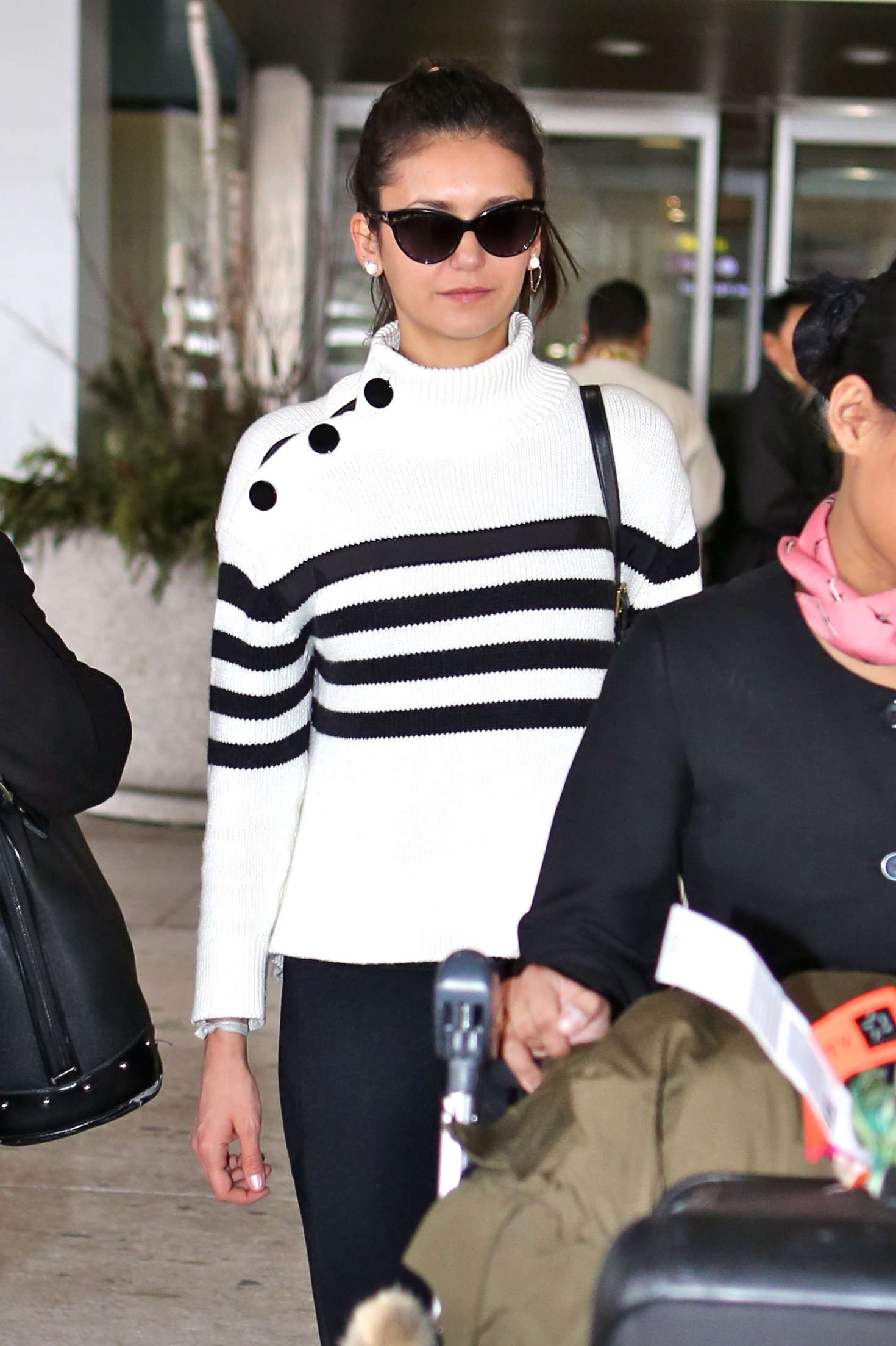 Nina Dobrev at Pearson International Airport-1