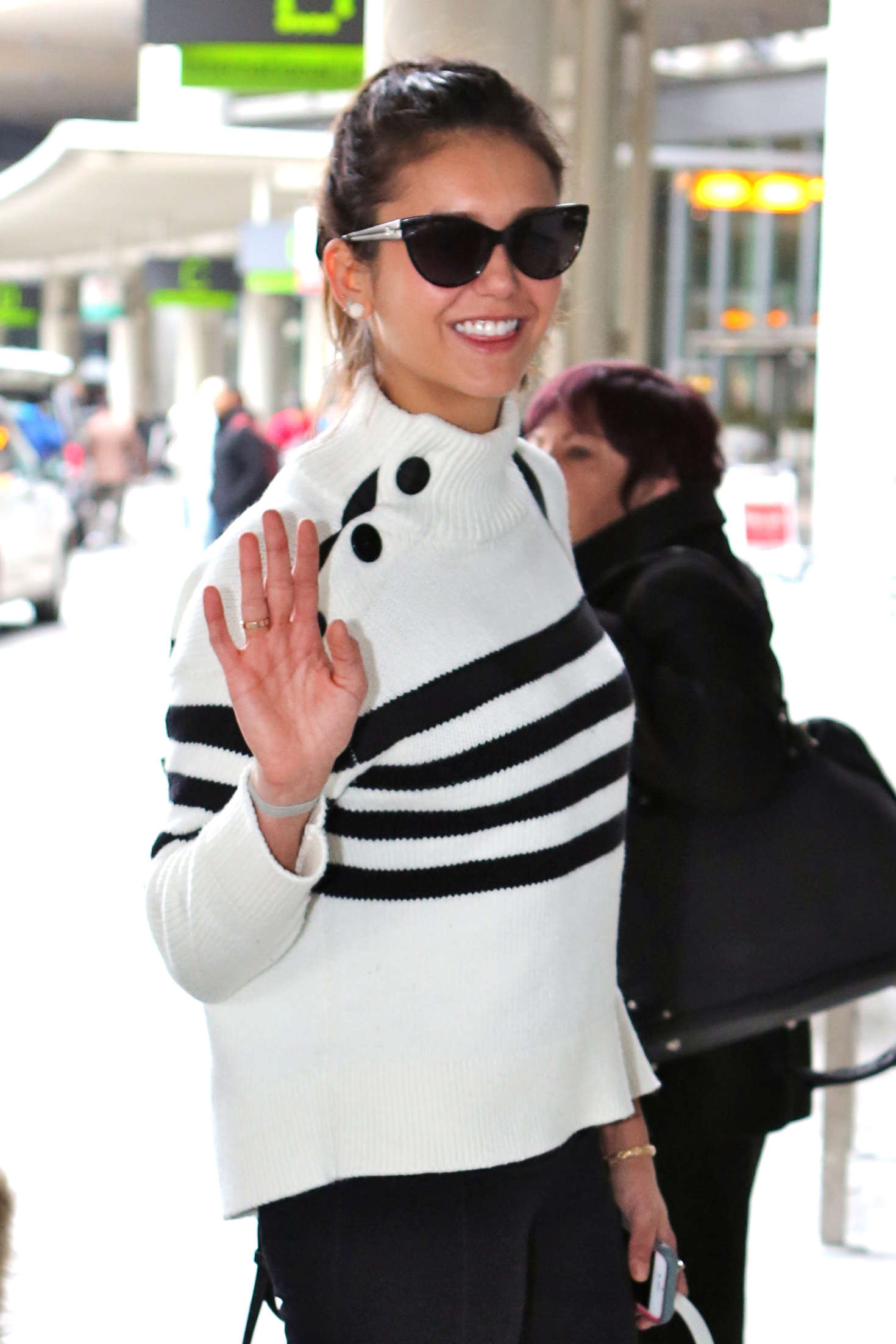Nina Dobrev at Pearson International Airport-2