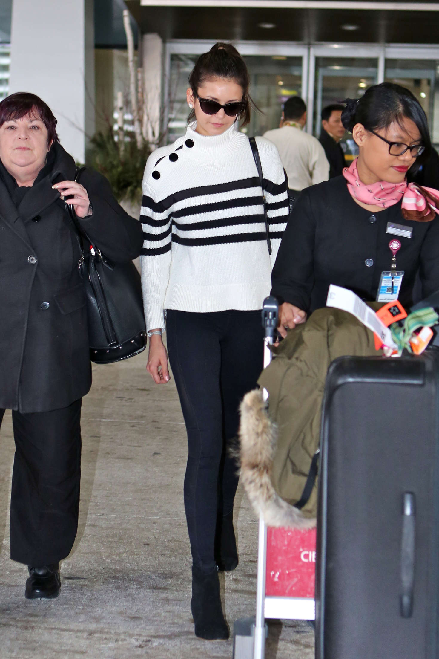 Nina Dobrev at Pearson International Airport-4
