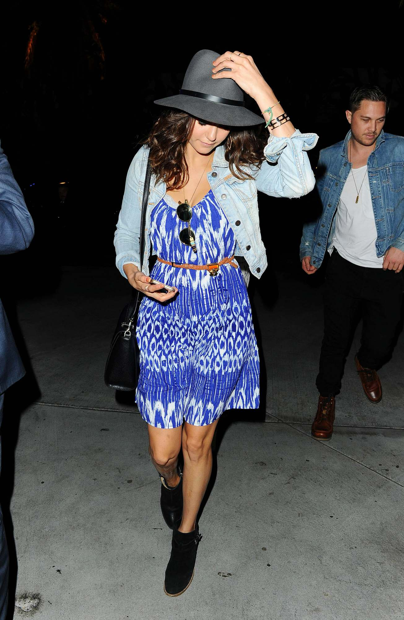 Nina Dobrev Attends Taylor Swift Concert-1