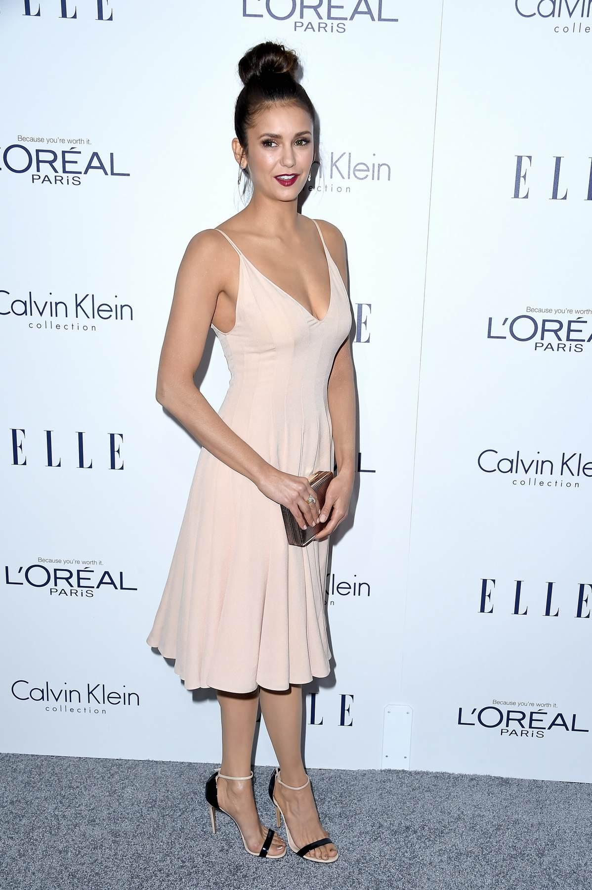 Nina Dobrev attendse Annual ELLE Women in Hollywood Awards-1