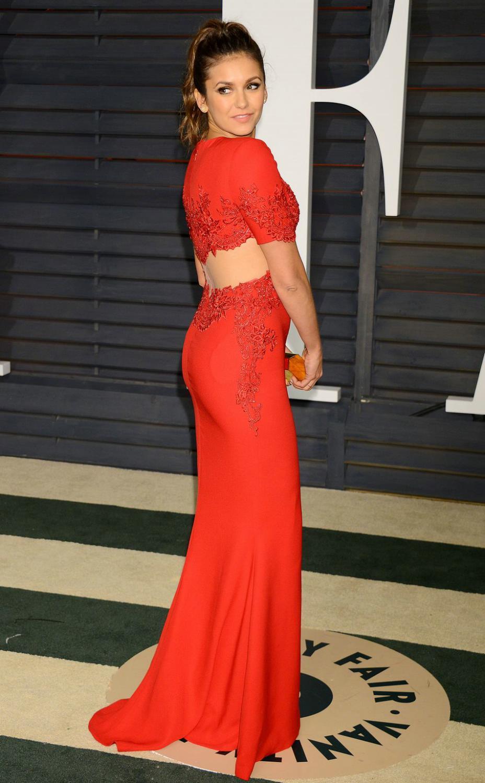 Nina Dobrev attends Vanity Fair Oscar Party-1