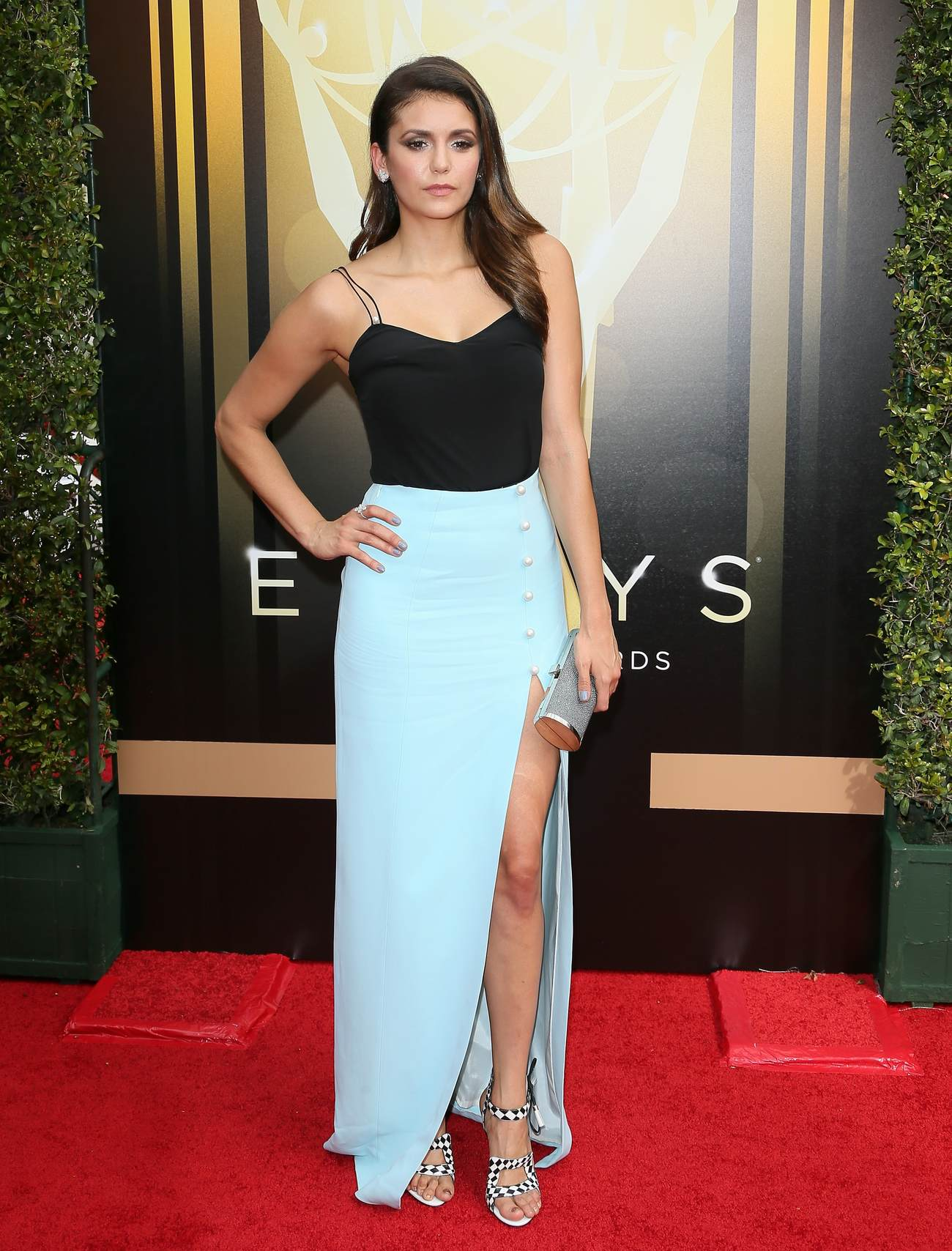 Nina Dobrev Looks Stunning at Creative Arts Emmy Awards-1