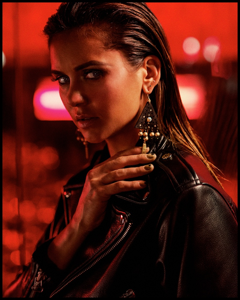 Nina Dobrev Show Cleavage for Interview Magazine-1