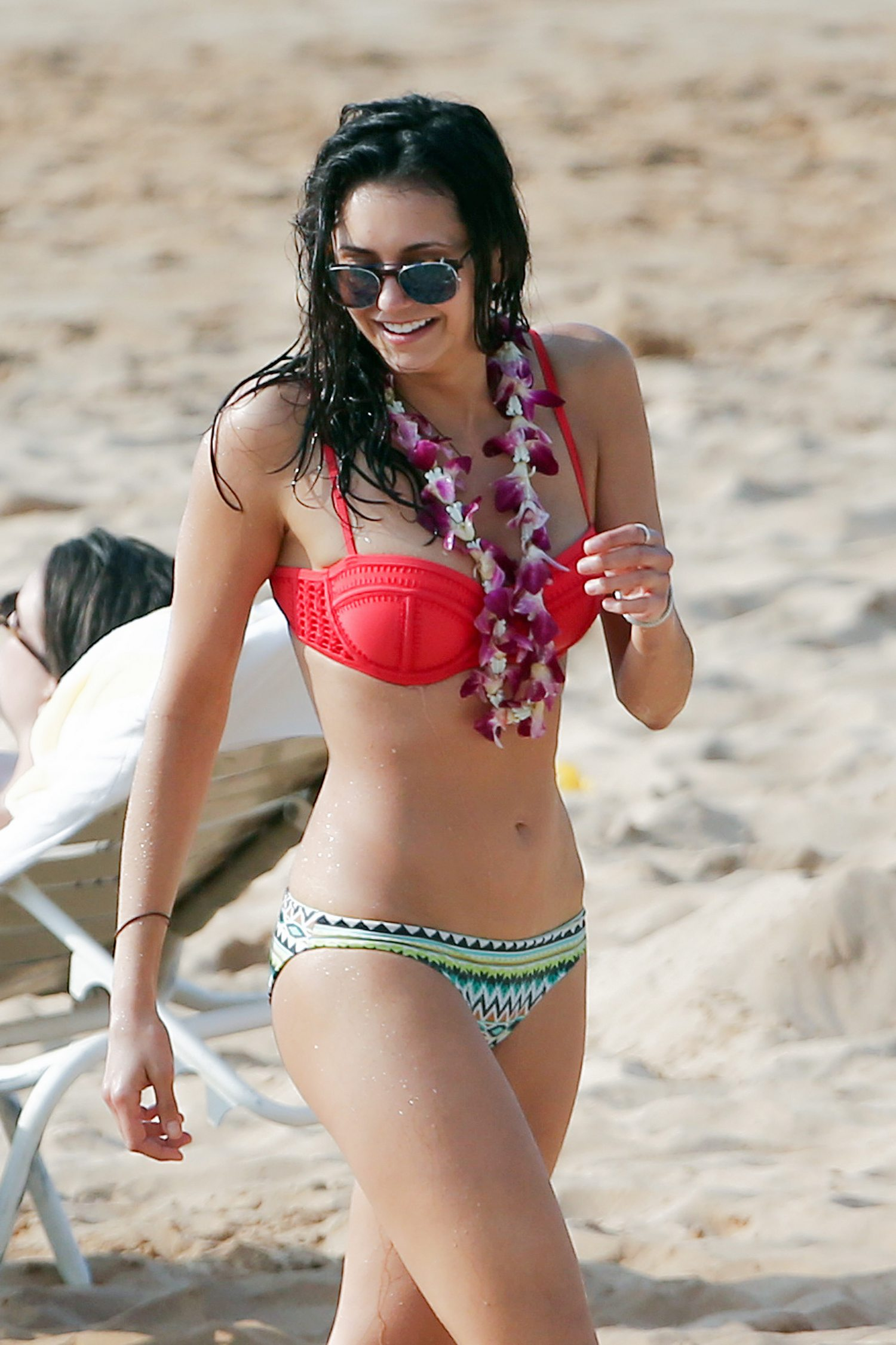 Nina Dobrev Wears Red Hot Bikini in Maui-4