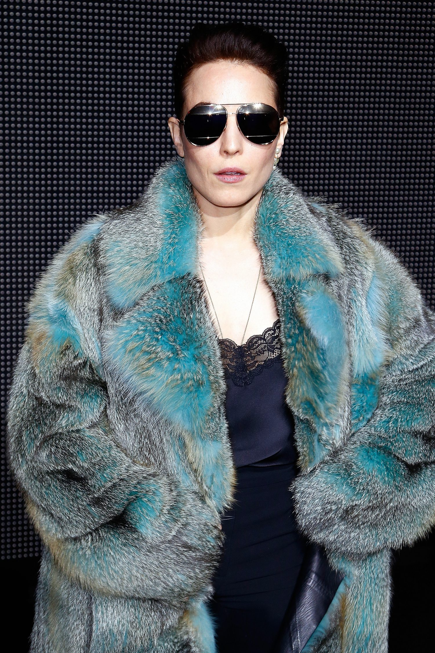 Noomi Rapace at Paris Fashion Week Dior Menswear FW