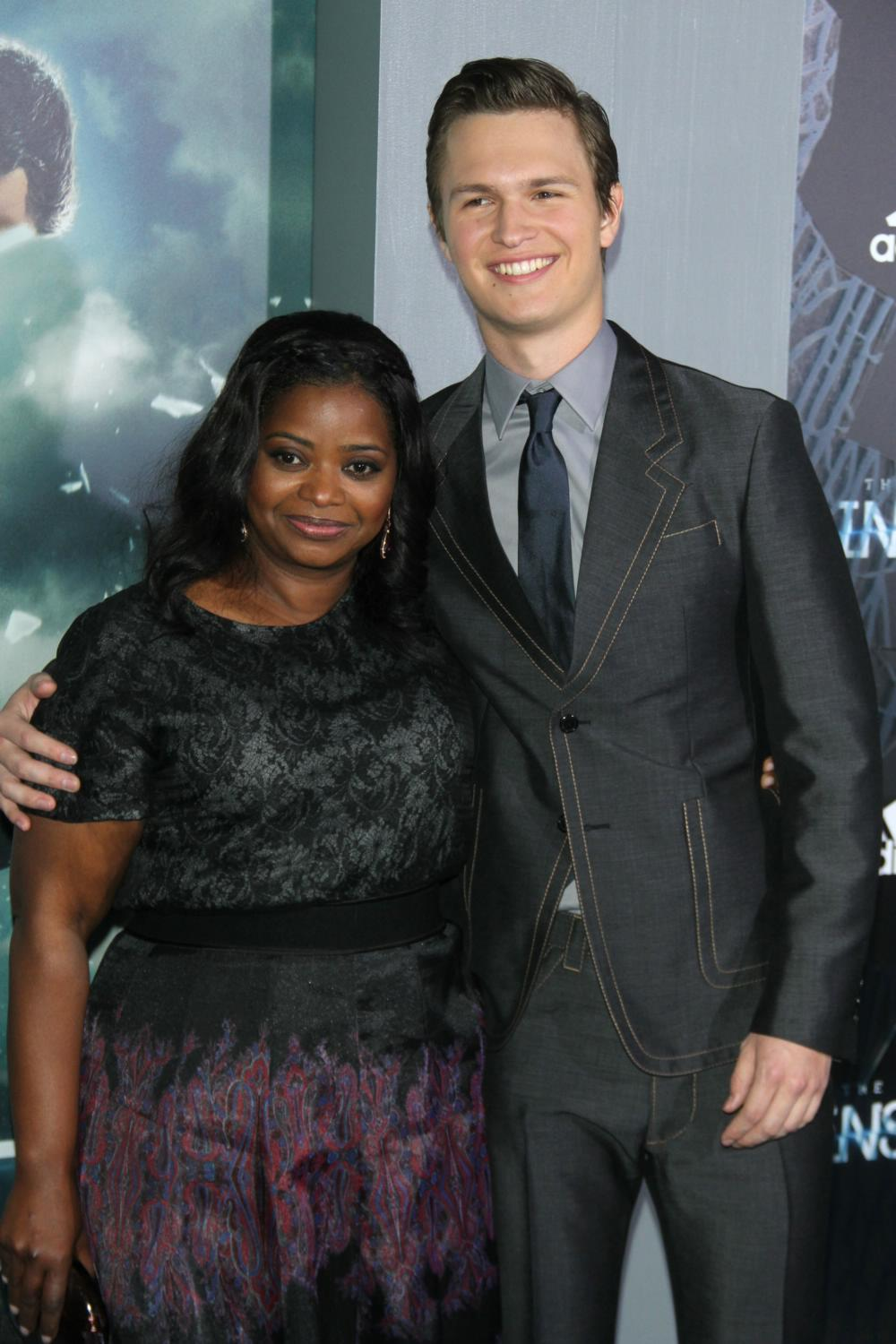 Octavia Spencer and Ansel Elgort at Insurgent New York Premiere-1