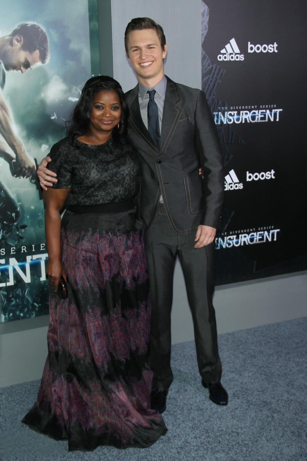 Octavia Spencer and Ansel Elgort at Insurgent New York Premiere-2