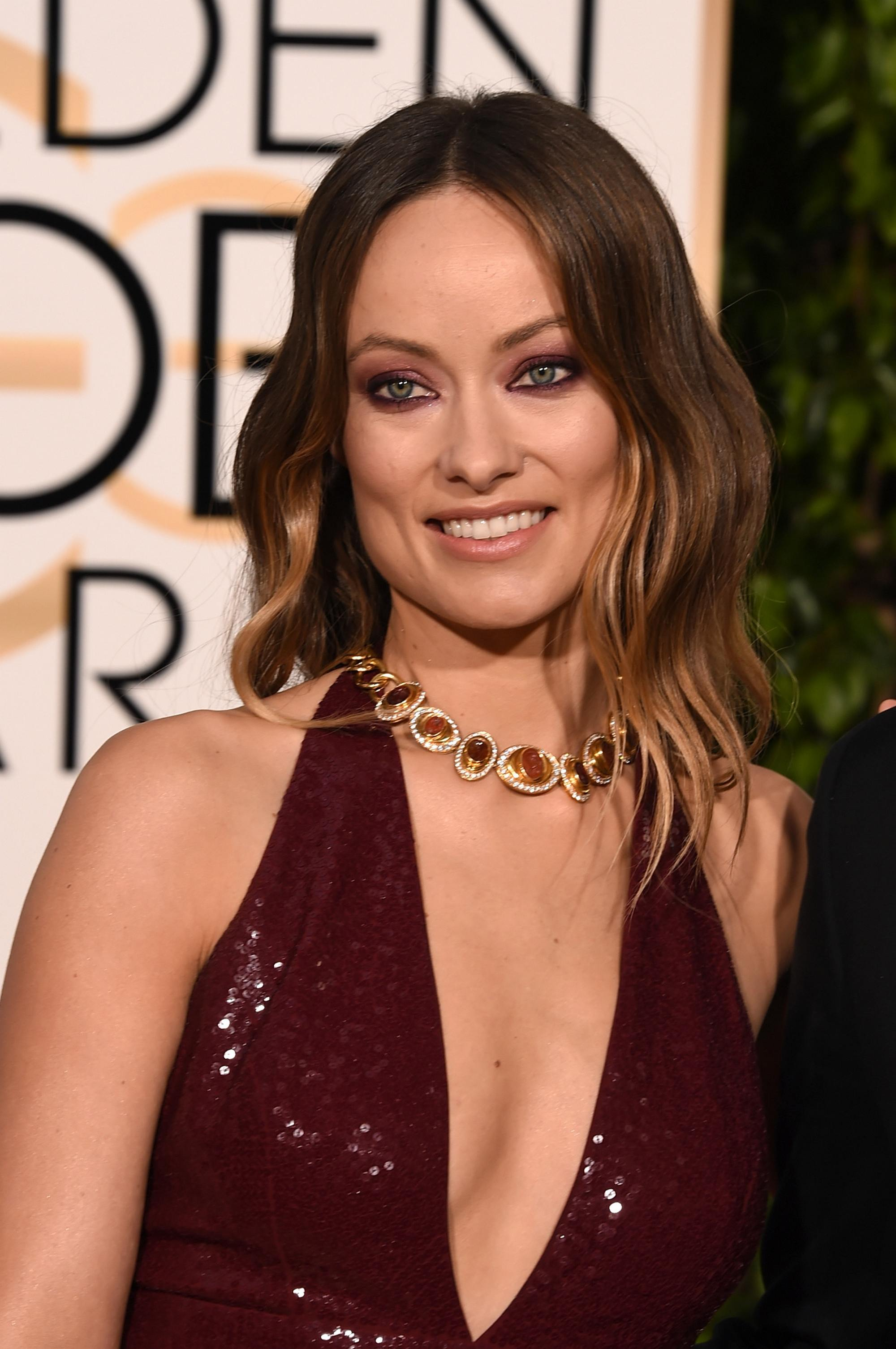 Olivia Wilde and Jason Sudeikis at Annual Golden Globe ... Olivia Wilde