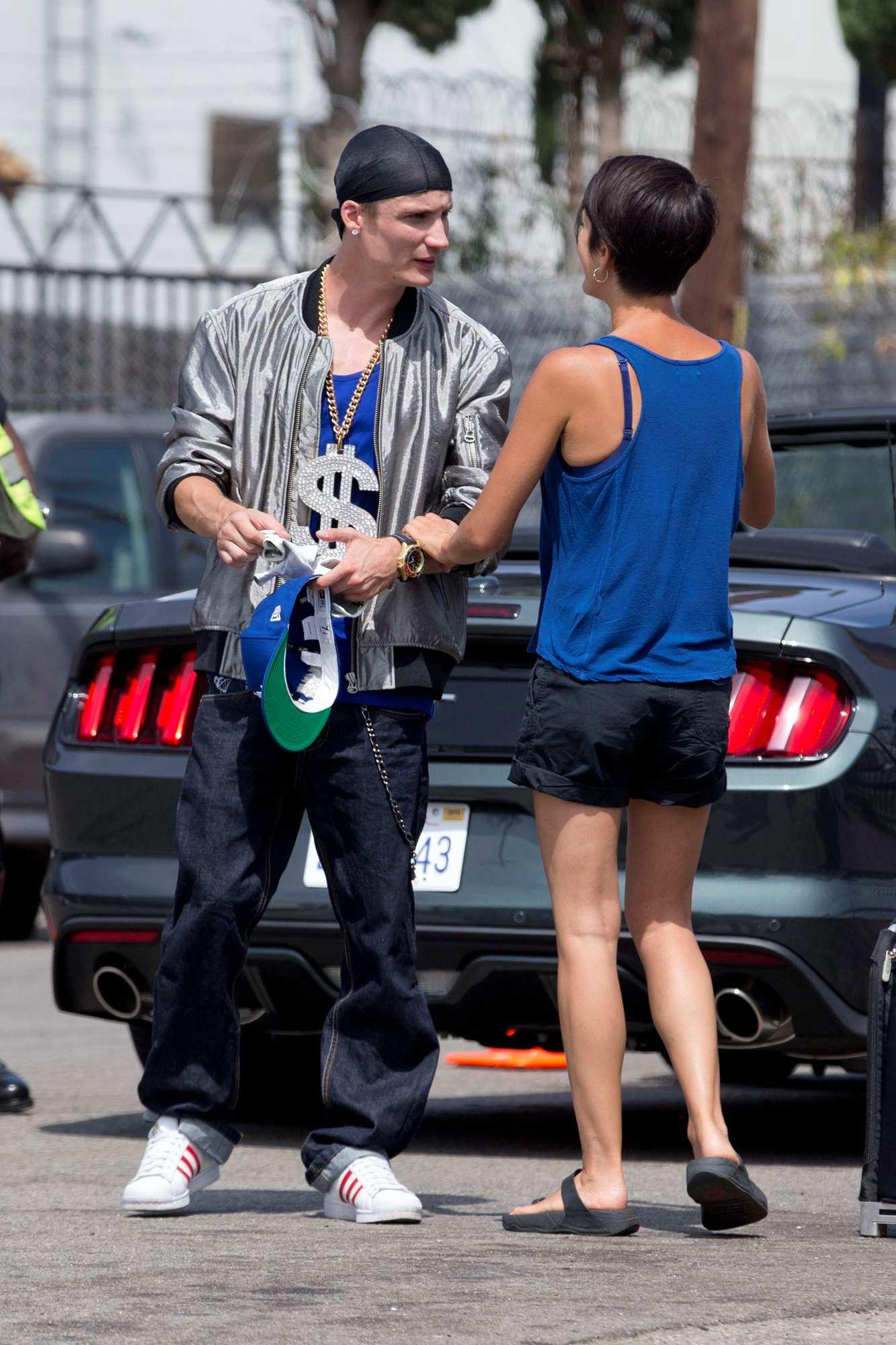 Pierre Lottin Filming Comedy Les Tuche in LA – Celeb Donut Rihanna