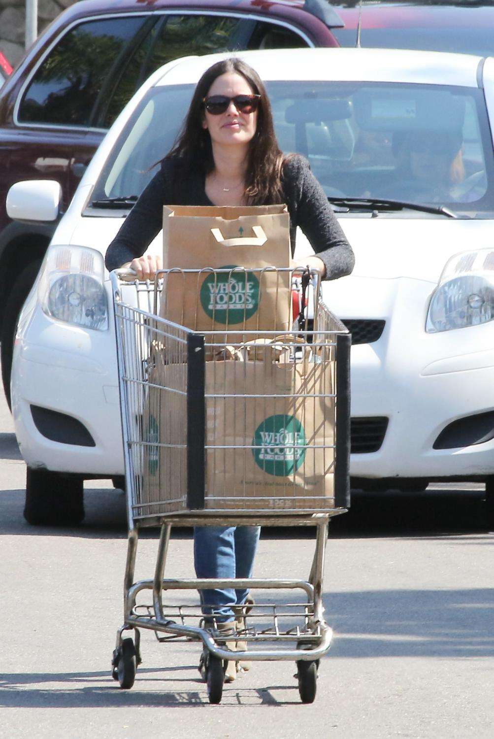 Rachel Bilson Shops at Whole Foods with Hayden and Brair