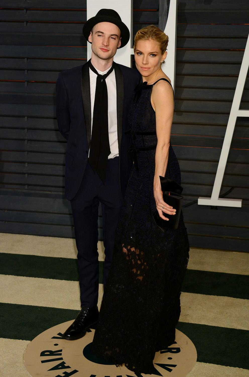 Robert Pattinson with Sienna-Miller and Tom Sturridge attends Vanity Fair Oscar Party-2
