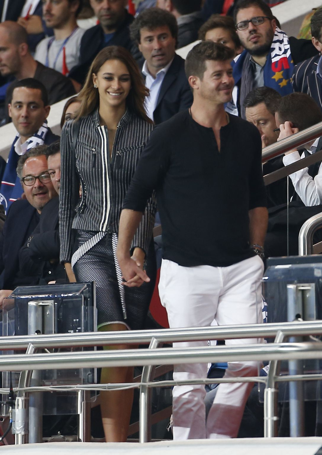 Robin Thicke and his girlfriend Love Geary in Paris-1