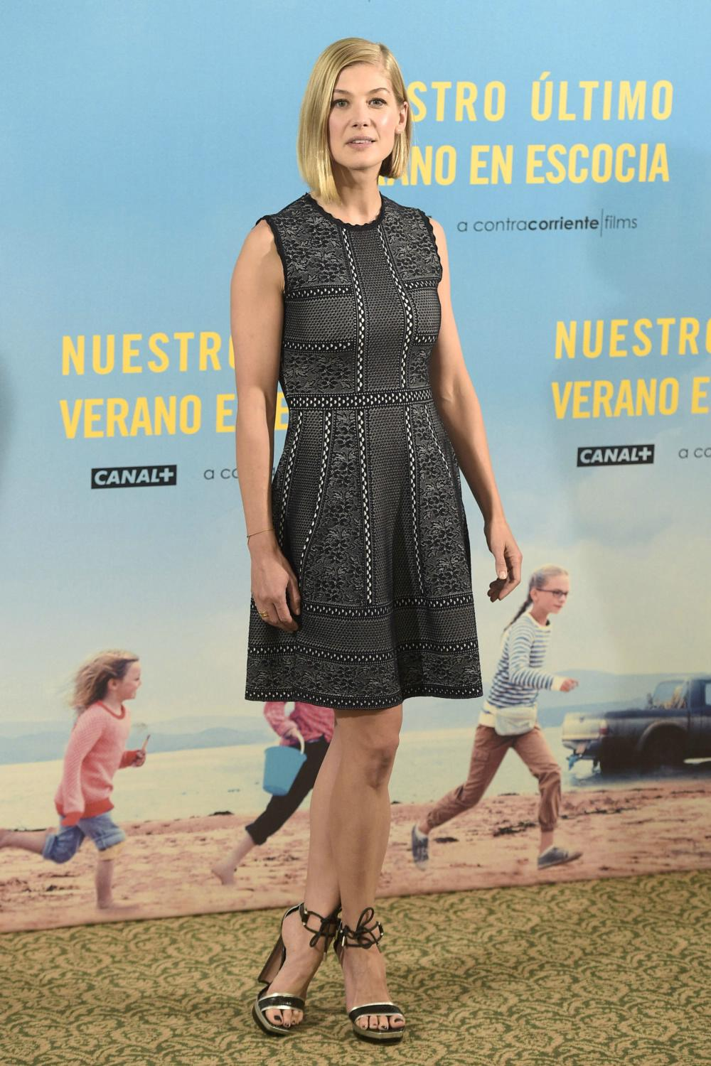 Rosamund Pike at What We Did On Our Holiday Madrid Photocall