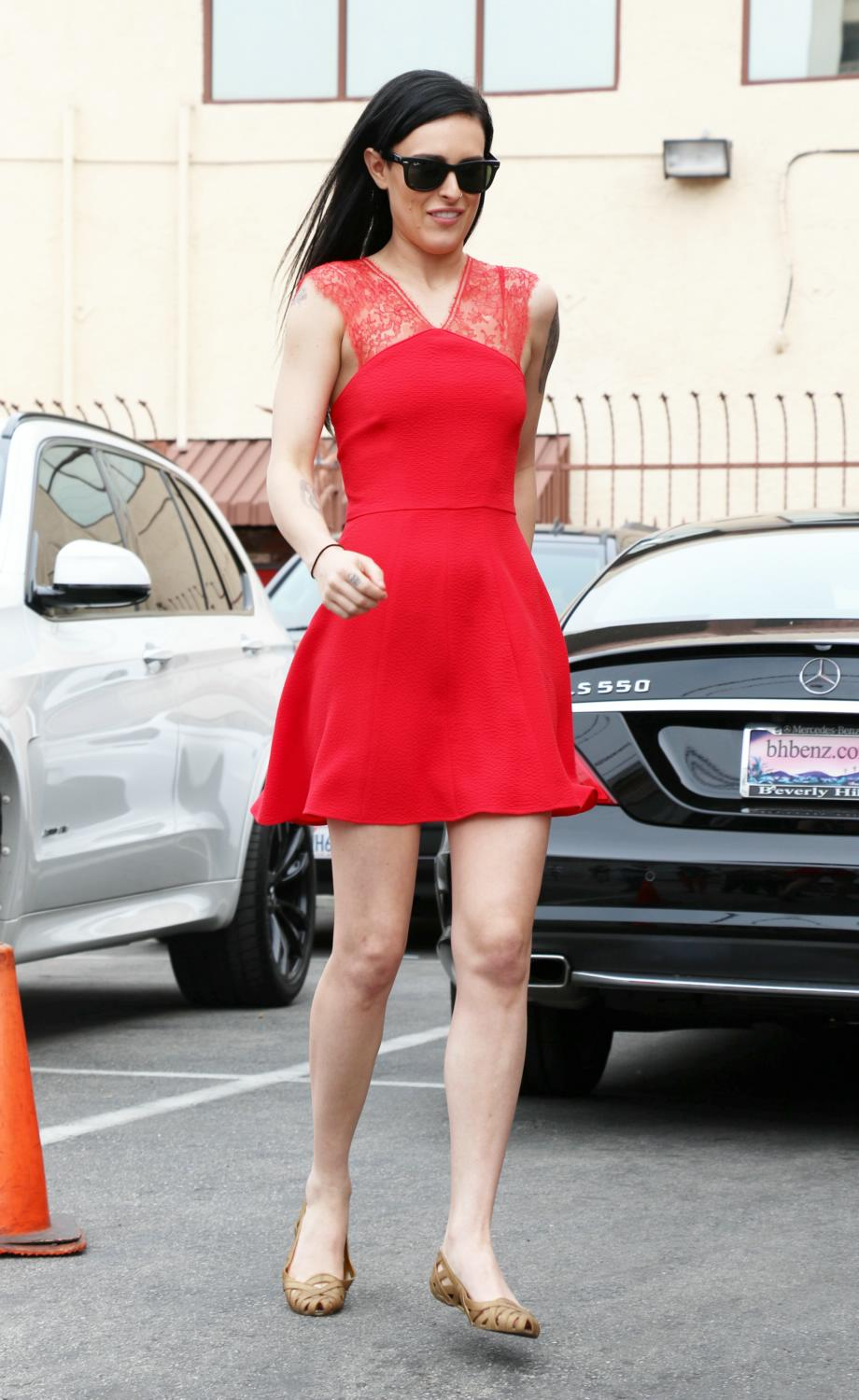 Rumer Willis Pretty in Red in Hollywood-1